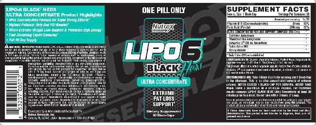 Nutrex Lipo 6 Black Hers – Avantages annoncés